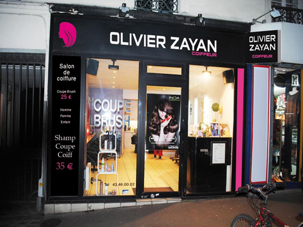 Enseigne conception fabrication et installation d - Panneau publicitaire salon de coiffure ...